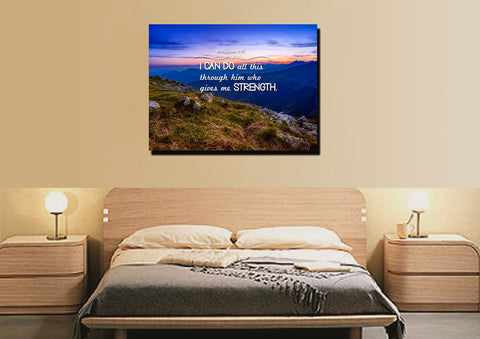 Image of Philippians 4:13 NIV #3 Bible Verse Canvas Wall Art