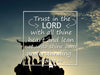 Image of Proverbs 3:5 #2 KJV Trust in the Lord with all thine heart Bible Verse Wall Art Canvas