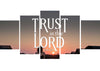 Image of Psalm 125:1 Trust in the Lord Canvas Wall Art Print - Christian Walls