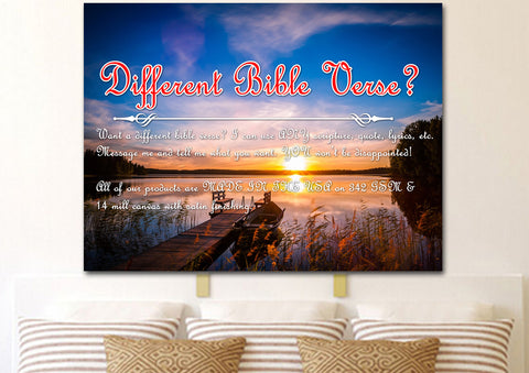 Image of Psalm 46:1 God is our Refuge and Strength Canvas Wall Art Print