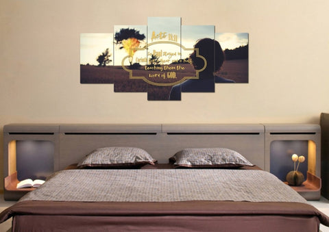 Image of Acts 18:11 Canvas Wall Art Print