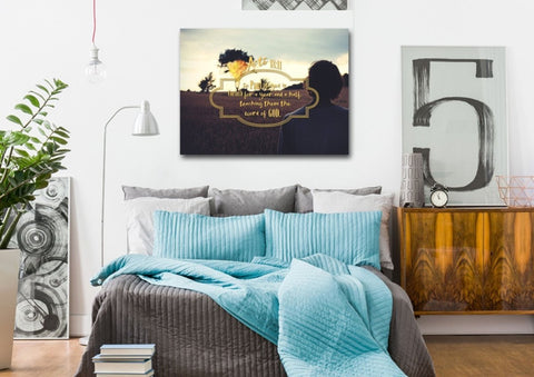 Acts 18:11 Canvas Wall Art Print