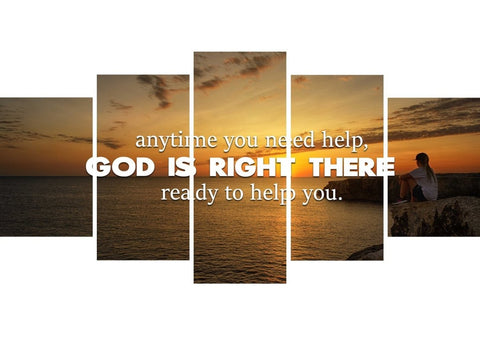Image of Anytime you need help, God is right there Christian Quotes Wall Art Canvas