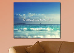 Be Still and Know That I am God Canvas Print - Christian Walls