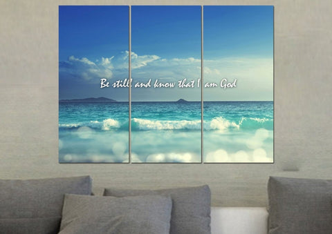 Image of Be Still and Know That I am God Canvas Print - Christian Walls