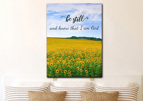 Be Still & Know That I am God #2 Bible Verse Canvas Print