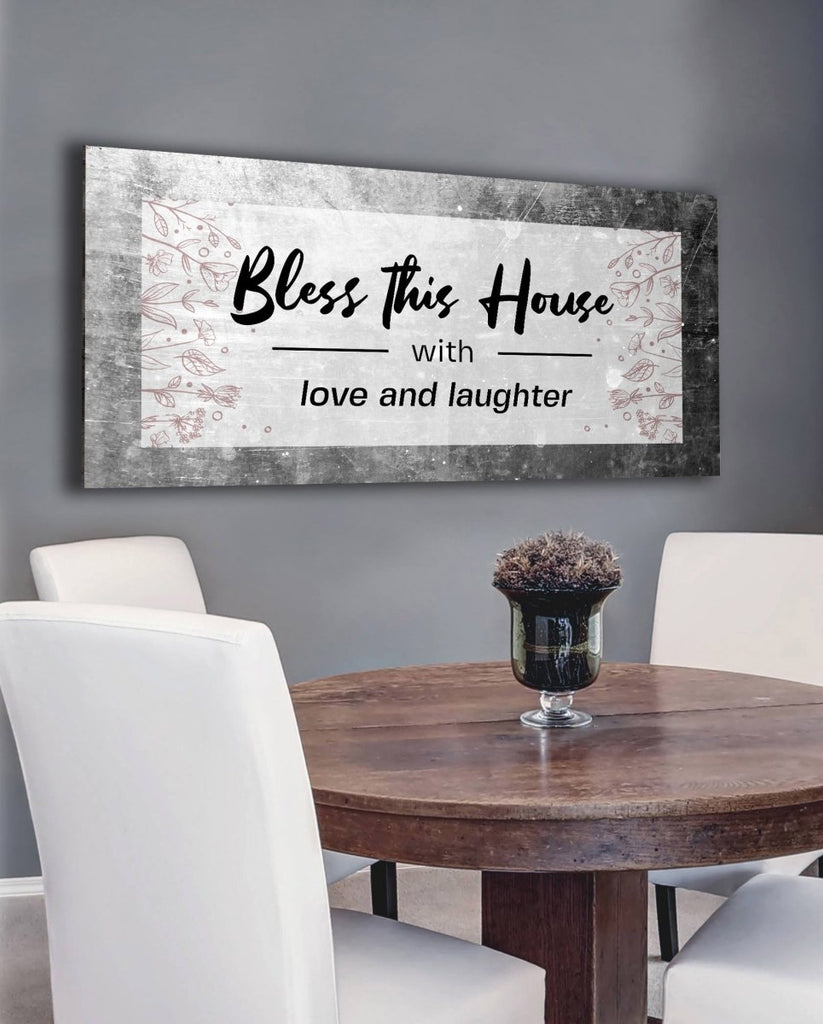 Bless This House With Love And Laughter Wall Du00e9cor