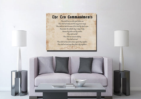 Brown Background & 10 Commandments #4 Wall Art