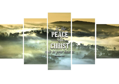Colossians 3:13 Let the Peace of Christ Rule in your Hearts Bible Verse Wall Art Canvas