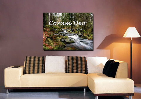Coram Deo 'Living in the Presence of God' Wall Art Canvas Print & Decor