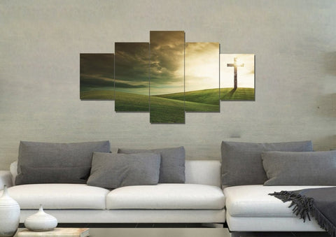 Image of Cross on Rolling Hills #4 Wall Art