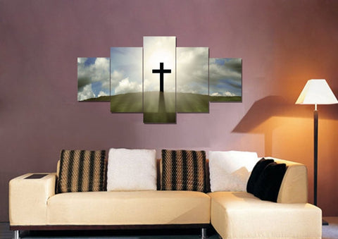 Image of Cross on the Hill #5 Wall Art