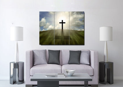 Cross on the Hill #5 Wall Art