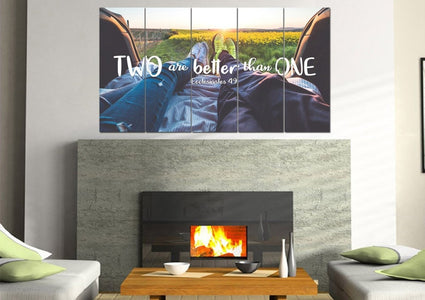Ecclesiastes 4:9 Two are better than One Bible Verse Canvas Wall Art