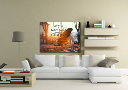 Ephesians 2:10 Canvas Wall Art Print