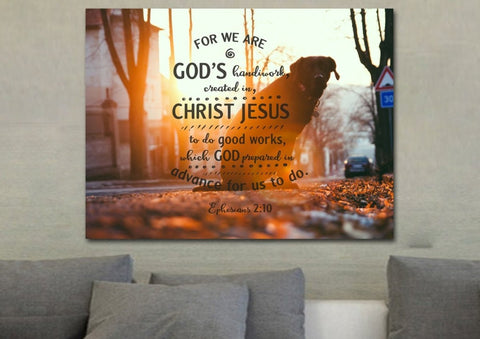 Image of Ephesians 2:10 Canvas Wall Art Print