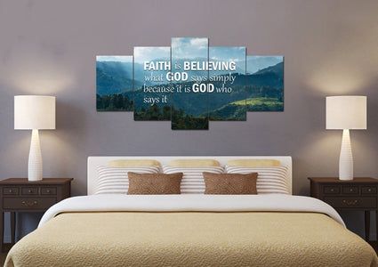 Faith is Believing Wall Art Canvas Print