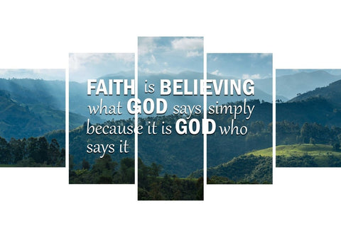 Image of Faith is Believing Wall Art Canvas Print