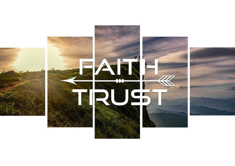 Faith Trust Christian Quotes Wall Art Canvas