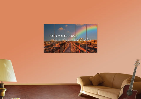 Father Please help me Obey your Word Today Christian Quotes Wall Art Canvas