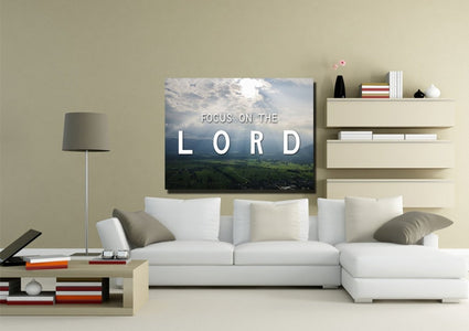 Focus on the Lord Wall Art Canvas Print