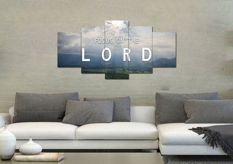 Image of Focus on the Lord Wall Art Canvas Print