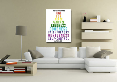 Image of Galatians 5:22 #10 Fruit of the Spirit Wall Art Canvas Print