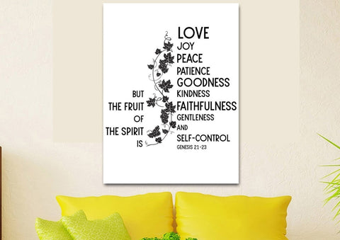 Image of Galatians 5:22 #12 Fruit of the Spirit Wall Art Canvas Print