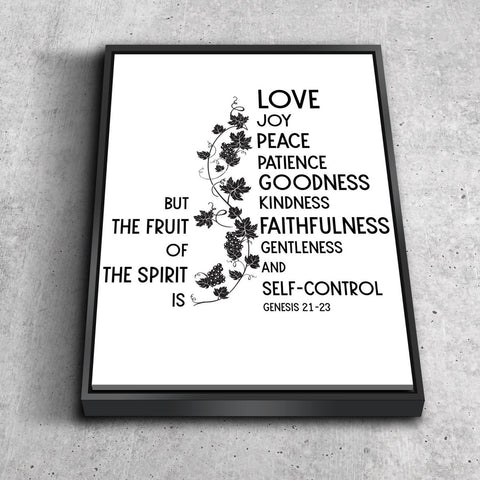 Galatians 5:22 #12 Fruit of the Spirit Wall Art Canvas Print