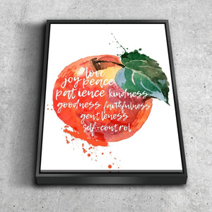 Galatians 5:22 #13 Fruit of the Spirit Wall Art Canvas Print