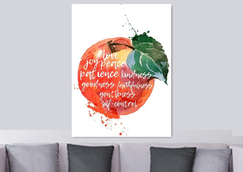 Image of Galatians 5:22 #13 Fruit of the Spirit Wall Art Canvas Print