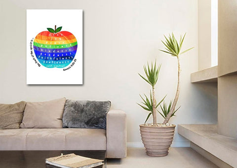Image of Galatians 5:22 #14 Fruit of the Spirit Wall Art Canvas Print