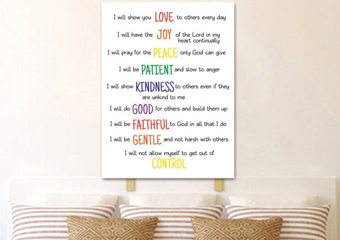 Galatians 5:22 #15 Fruit of the Spirit Wall Art Canvas Print
