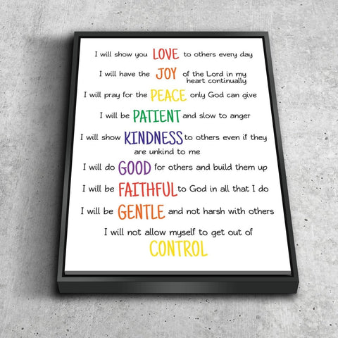 Image of Galatians 5:22 #15 Fruit of the Spirit Wall Art Canvas Print
