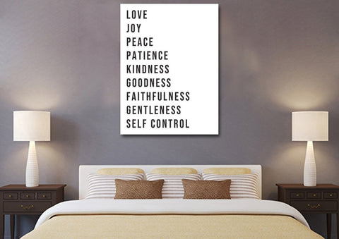 Galatians 5:22 #16 Fruit of the Spirit Wall Art Canvas Print
