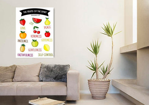 Image of Galatians 5:22 #3 Fruit of the Spirit Wall Art Canvas Print