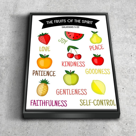 Galatians 5:22 #3 Fruit of the Spirit Wall Art Canvas Print