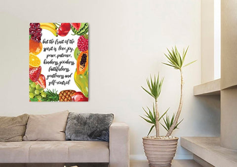 Image of Galatians 5:22 #4 Fruit of the Spirit Bible Verse Canvas Wall Art