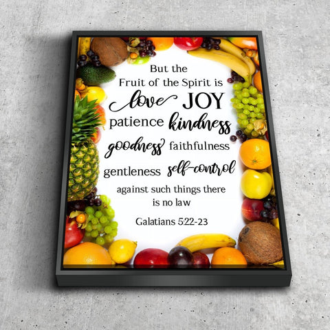 Galatians 5:22 #5 Fruit of the Spirit Bible Verse Canvas Wall Art