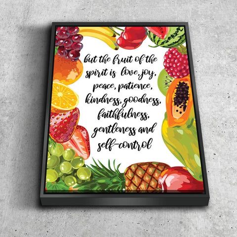 Image of Galatians 5:22 #5 Fruit of the Spirit Bible Verse Canvas Wall Art