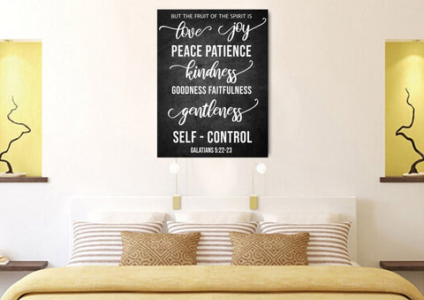 Image of Galatians 5:22 #6 Fruit of the Spirit Wall Art Canvas Print