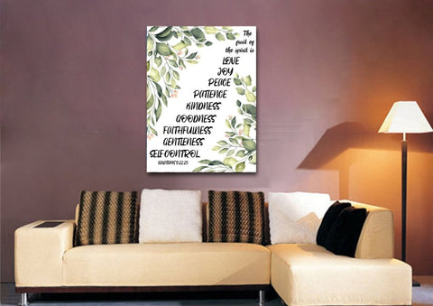 Galatians 5:22 #7 Fruit of the Spirit Wall Art Canvas Print