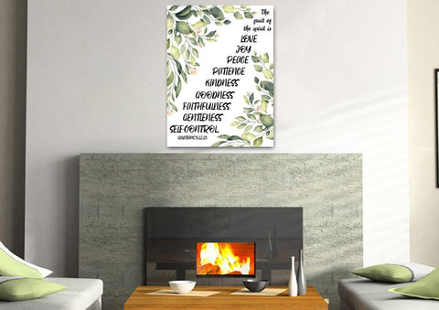 Image of Galatians 5:22 #7 Fruit of the Spirit Wall Art Canvas Print