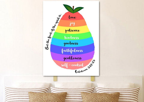 Image of Galatians 5:22 #8 Fruit of the Spirit Wall Art Canvas Print
