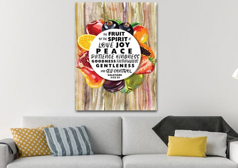 Galatians 5:22 #9 Fruit of the Spirit Wall Art Canvas Print