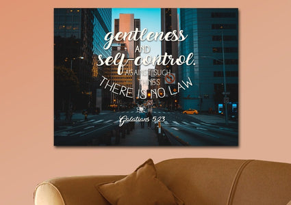 Galatians 5:23 Wall Art Canvas Print