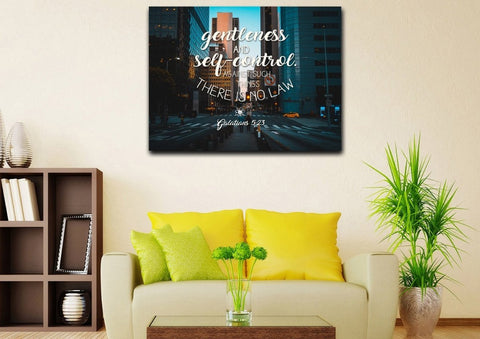 Image of Galatians 5:23 Wall Art Canvas Print