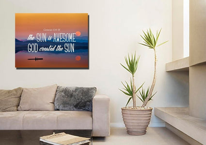 Genesis 1:14-19 Wall Art Canvas Print