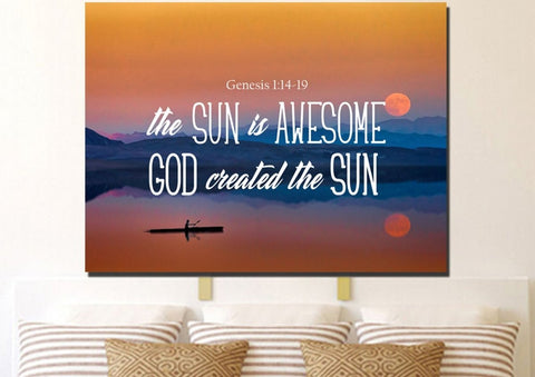 Image of Genesis 1:14-19 Wall Art Canvas Print