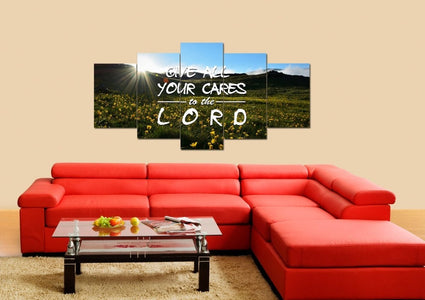 Give all your cares to the Lord Wall Art Canvas Print